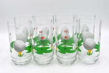 Inidiana Glass 19th Hole Drinkware Set of 8-16oz Coolers/Glasses/Tumblers