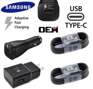 Original Samsung Galaxy Note8 S8 S9+ S10+ Fast Car Wall Charger 4FT Type-C Cable