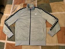 Kappa grey black zip up track jacket XL mens NEW qqq