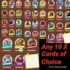 Coin Master Cards Of Choice 10X (Upto Mountain Climbers Set )
