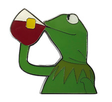 KERMIT Enamel PIN Lapel/Hat/Backpack BUT THAT'S NONE OF MY BUSINESS FUNNY MEME