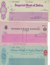 INDIA  BRITISH INDIA BANK CHECKS 5 DIFFERENT SOME MAHARAJA ISSUES,  SEE SCANS