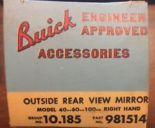 NOS 1954 1955 1956 BUICK RIGHT HAND OUTSIDE REAR VIEW MIRROR