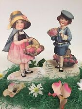 Bethany Lowe Easter Children Dummy Boards RL4691: Sold as a Set of 2