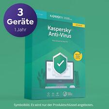 KASPERSKY ANTIVIRUS 2020 per 3 PC 1 Anno Versione Full via email immediatamente