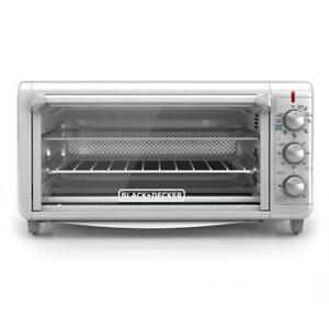 Stainless Steel Toaster Oven And Air Fryer Extra Wide Crisp Bake 1500 W 8 Slice