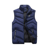 New Winter Warm Men's Down Cotton Padded Sleeveless Vest Jacket Waistcoat Parka