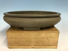 Beautiful Bag UnGlazed Bonsai Tree Pot Made By Izumi-Ya, Zenigo Kiln 13 1/2�