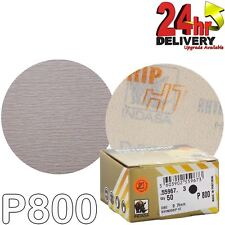 "Indasa Rhynogrip HT Line 75mm 3"" Sanding Discs P800 Box of 50 Grip System"