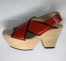 Zara Red Sandals US 9 EU 40