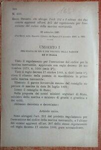 REGIO DECRETO CHE ABROGA COMMI DEL REGOLAMENTO DELLA MARINA MERCANTILE-1682