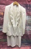 Vintage Ferre Gianni Ivory Skirt And Jacket Sz 12