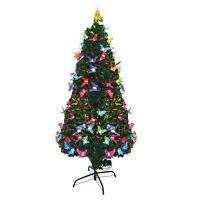 LED Fibre Optic Christmas Tree Pre Lit Xmas Decorative Tree
