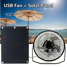 8'' USB 5W Ventilatore Energia Solare Fan Ferro Per Spiaggia Ventola campeggio