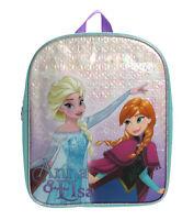 Disney Frozen Snowflake Anna & Elsa Shiny Childrens Backpack School Bag Rucksack