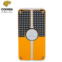 COHIBA Windproof Metal 3 Torch Cigar Cigarette Lighter Butane Jet Flame w/ Punch