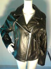NWOT Viking Cycle Leather Braided Front Jacket Coat  Large BRAND Harley