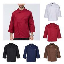 Women Men Chef Jacket Long Sleeve Coat Waiters Shirt Hotel Kitchen Uniforms