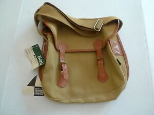 BARBOUR - B715 REIVER COTTON CANVAS  BAG--NEW OLD STOCK & TAGS- MADE IN ENGLAND