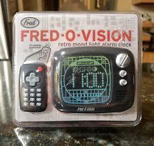 Fred-O-Vision Retro Tv Alarm Clock & Mood Light w/ Remote New Sealed