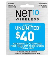 Net10 $40/Month Plan Refill
