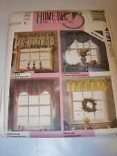 UNCUT MCCALLS Sewing Pattern 4791 HOME DECOR CRAFTS CURTAINS DRAPES VALANCE