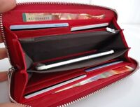 Genuine real leather woman purse tote wallet zipper Coins bag credit cards Money