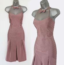 KAREN MILLEN Dusty Pink Stunning Funky Gorgeous Cocktail Party Dress 10  EU 38