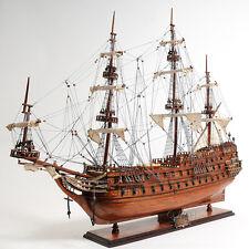 """Dutch De Zeven Provincien Tall Ship 37"""" Built Wood Model Sailboat Assembled"""