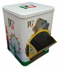PG Tips Tea - Metal Tin Caddy For Storing Tea Bags Sachets Envelopes (Empty Tin)