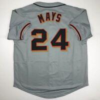 New WILLIE MAYS San Francisco Grey Custom Stitched Baseball Jersey Size Men's XL