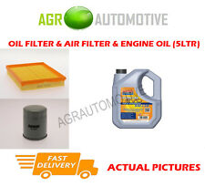 Essence huile filtre à air kit + ll 5W30 huile pour opel astra 1.6 84 bhp 2000-04