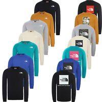 The North Face Mens Crew Neck Sweatshirt Raglan Box Fleece Sweater Pullover Top
