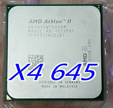 AMD Athlon II X4-645 3.1 GHz Quad Core ADX645WFK42GM, AM2+ / AM3 CPU Processor