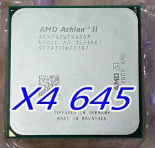 AMD Athlon II X 4 3.1 GHz Quad Core 645 Processor, ADX645WFK42GM, AM2+ / AM3