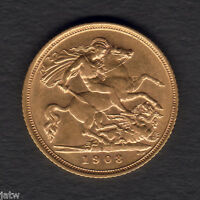 Australia.  1908 Sydney - Half Sovereign..  Part Lustre..  gVF