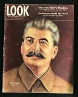 LOOK MAGAZINE - June 27 1944 - JOSEPH STALIN / Harry Hopkins / US Army Infantry