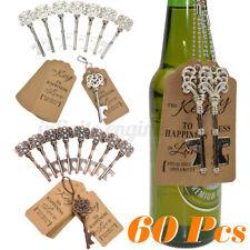 60Pcs Wedding Key Bottle Opener Skeleton Xmas Party Rustic Decor Gifts