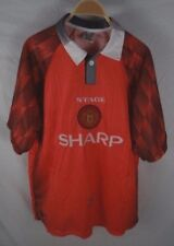 Vtg Mens Stage Sport Manchester United Polo Style Shirt Jersey Size Xl (Fits L)