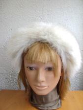 SHOWROOM NEW NORWEGIAN BLUE FOX FUR HEADBAND HEAD PIECE HAIR BAND GIRL CHILDREN