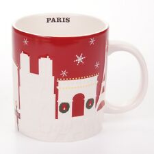 Starbucks® Relief Mug Paris RED Gold X-mas Christmas NEW France