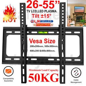 Slim Tilt TV Wall Mount Bracket For 26 30 32 40 42 50 55 Inch 3D LCD LED Plasma