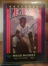 1994 Virginia Lottery Autographed Willie McCovey Baseball Legends Card Very Rare