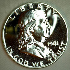 1961 Franklin Silver Proof Half Dollar Coin Fifty Cent MADE IN AMERICA 50c COIN