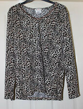 Kim & Co Animal Print Top With Sparkle Size 14-16