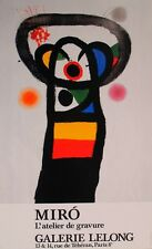 MIRO 1990 ORIGINAL POSTER ABSTRACT COLOURFUL VINTAGE  ARTWORK RETRO LARGE SLIM