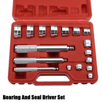 17PC Auto Bearing Race Seal Driver Master Set For Small Bearings Garage Tool Set