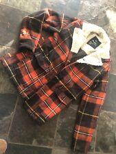 RARE Slash By Altamont M Thick Plaid Flannel Western Coat Jacket Rockabilly