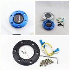 Universal fashion blue carbon fiber car steering wheel horn button switch cover