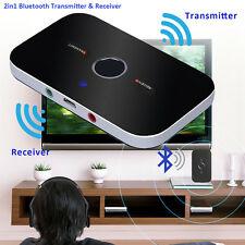 Bluetooth Transmitter & Receiver 2in1 Wireless A2DP Home TV Stereo Audio Adapter